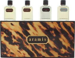 Aramis Miniature Gift Set 7ml Aramis EDT + 7ml Aramis Aftershave + 7ml Black EDT + 7ml Voyager EDT