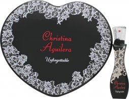 Christina Aguilera Unforgettable Gift Set 30ml EDP + Tin Heart Box