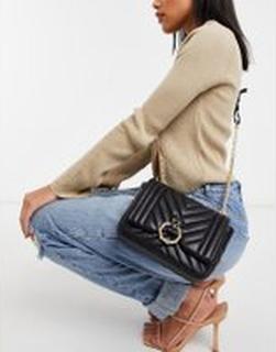 Topshop – Svart väska med panterdetalj