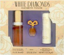 Elizabeth Taylor White Diamonds Gift Set 30ml EDT + 3.7ml Parfum + 28g Satin Body Talc