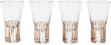 Tank Set Of Four Striped Shot Glasses - Gold