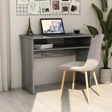 vidaXL Skrivebord høyglans grå 90x50x74 cm sponplate