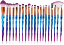 Sminkborstset 20 delar - Rosé och Ombre