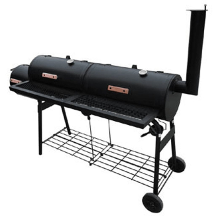 vidaXL røgegrill Nevada XL sort