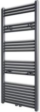 vidaXL Handdukstork centralvärme element rak grå 600 x 1424 mm