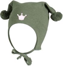 Kivat vårlue til barn med krone, olivengrønn