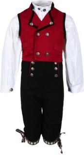 Salto bunad / Festdrakt til gutt med skjorte, rød