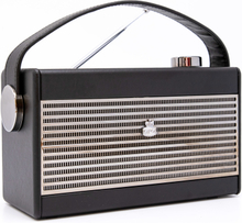 GPO Darcy Vintage Style Radio - Svart & Silver