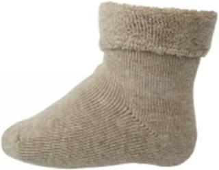 MP - Sokker i bomull med frotté kant , beige