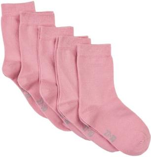 5 pack sokker til barn, rosa