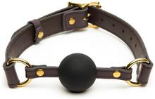 Coco de Mer - Leather Ball Gag Brown