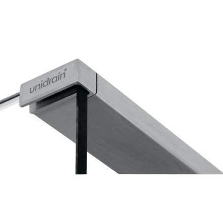 Unidrain Glassline topstang til Venstrestillet glasvæg
