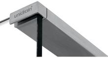 Unidrain Glassline topstang t/venstrestillet glasvæg