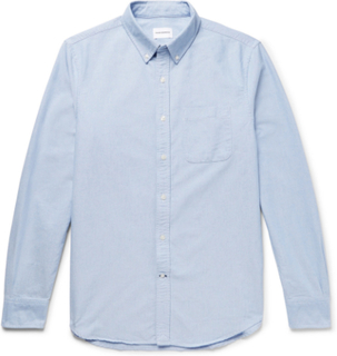 Button-down Collar Cotton Oxford Shirt - Light blue