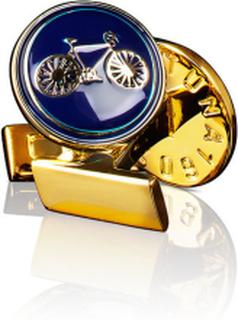Manschettknappar Themocracy Guld Mörkblå