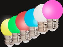 6 stk. färgade LED Lampor