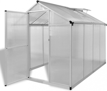 Drivhus forsterket aluminium 4,6 m²