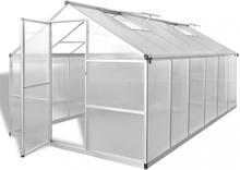 Drivhus forsterket aluminium 9,025 m²