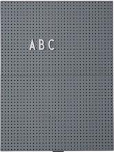 Design Letters - Design Letters Opslagstavle A4, Mørkegrå