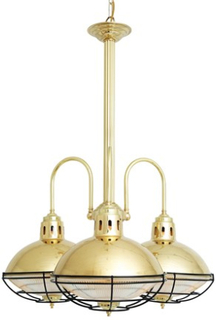 Mullan Lighting Marlow cage takkrona – Antique brass