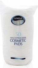 Athena Oval Cotton Cosmetic Pads 50 stk