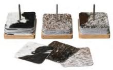 Skandilock Glasunderlägg 10st Inkl. Ställ I Ek/Stål Hide-Black/White