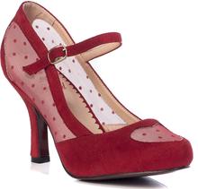 Banned Retro - Elegant Spots -Høyhælete sko - rød