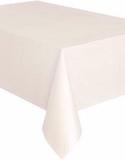 Elfenbensfärgad Plastduk 137x274 cm