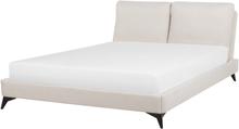 Chenilleverhoiltu beige sänky 180x200cm MELLE