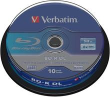 Verbatim BD-R Double Layer 6X, Scratchguard surface 10p Spindle
