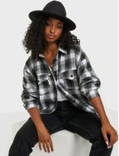 Missguided Brushed Oversized Basic Check Shirt Skjortor