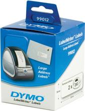 DYMO LabelWriter hvide adresse etiketter, 89x36 mm, 2-pack(520 stk.)