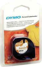 DYMO LetraTag, stryg-på tape tekstil, hvid, 12 mm, 2 m