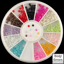 Halve perler x 12 farger