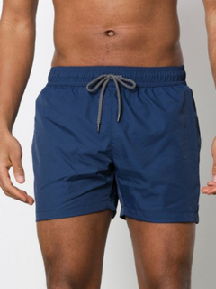 Topman Swim Shorts Badetøj Dark Blue