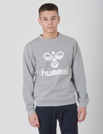 Hummel, DOS SWEATSHIRT, Grå, Trøjer/Cardigans till Dreng, 128 cm - KidsBrandStore