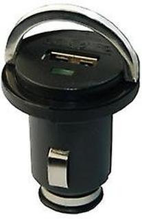 St mini billaddare med USB-port (1A) i svart