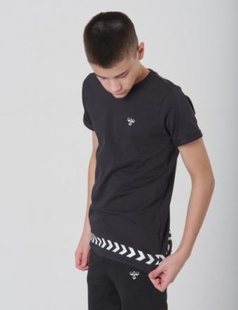 Hummel, WOLF T-SHIRT S/S, Sort, T-shirt/toppe till Dreng, 128 cm - KidsBrandStore
