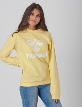 Hummel, DOS SWEATSHIRT, Gul, Trøjer/Cardigans till Pige, 140 - KidsBrandStore