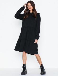 Noisy May Nmeda L/S Hood Sweat Dress Kjoler