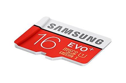 Samsung MB MC16DA minnekort, MicroSDXC 16 GB EVO pluss 80 MB/sek kl...