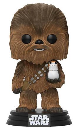 POP! Vinyl Star Wars - Chewbacca with Porg Flocked