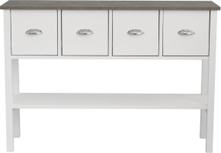 Sideboard Borgny Vit/Grå/Betong - 115 cm