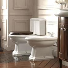 Lavabo Retro Monoblocco gulvstående toalett m/S-lås, hvit
