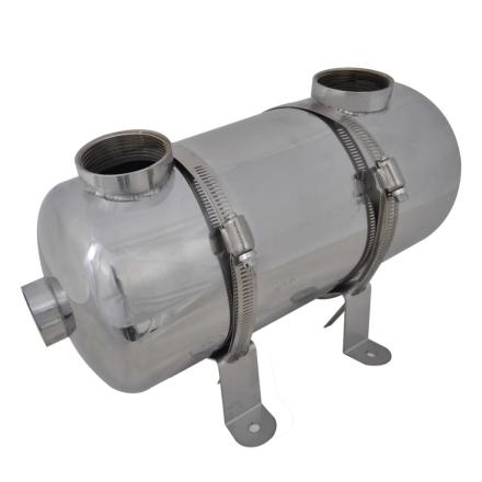 vidaXL Pool Varmeveksler 355 x 134 mm 40 kW