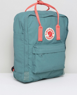 Fjallraven Classic Kanken Backpack in Green with Contrast Pink