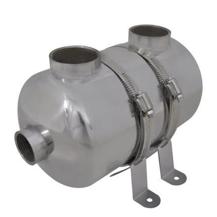 vidaXL Pool Varmeveksler 292 x 134 mm 28 kW