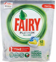 Fairy Platinum All in One Dishwasher Tablets 63 stk