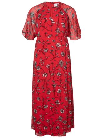 JUNAROSE Flower Printed Maxi Dress Women Red