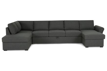Kansas Bäddsoffa Mörkgrå - U-soffa XL Vänster Plymåer